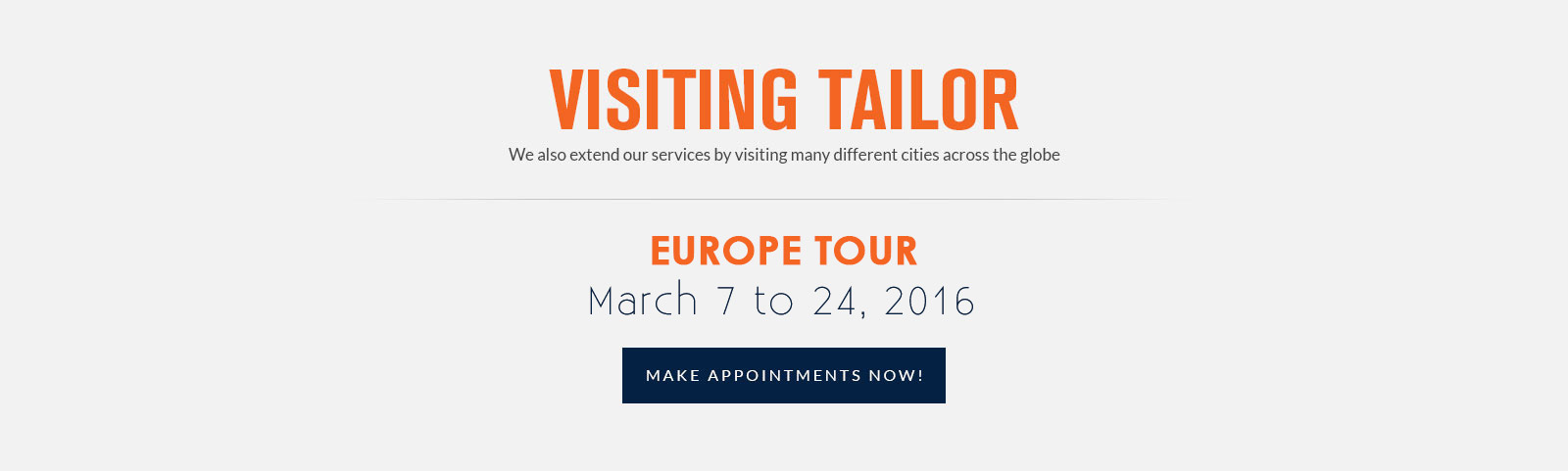 tailor in Europe